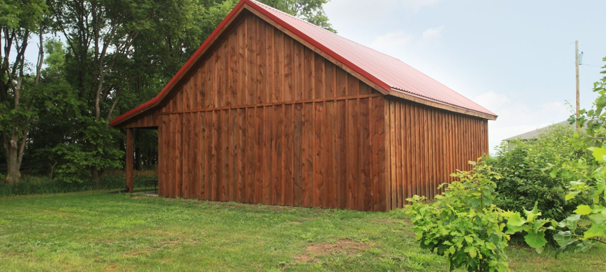 wood sided barn